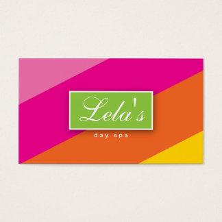 Modern Business Card Salon Spa Stripes POY