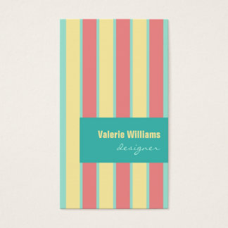 Modern business card template Colorful Striped