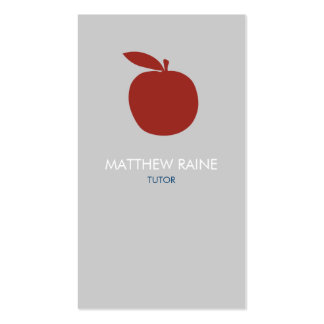 Modern Business Card   Tutor, Teacher, Organic.