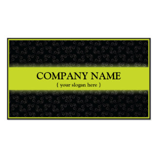 Modern Business Card with Damask Background Shade
