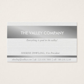 Modern Business card with silver text inlay
