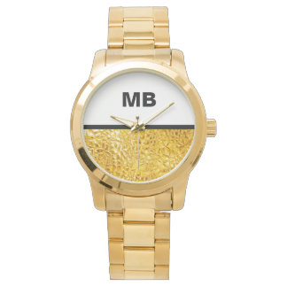 Modern Business Men's Monogram Watch