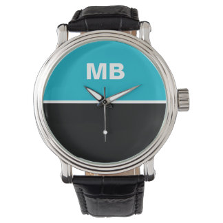 Modern Business Men's Monogram Watch