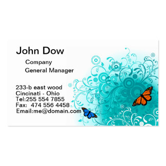 Modern butterfly and green floral VOL3 Pack Of Standard Business Cards