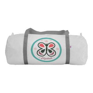 Modern Butterfly Personalized Chevron Kids Design Gym Bag