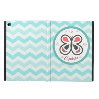 Modern Butterfly Personalized Chevron Kids Gift Powis iPad Air 2 Case