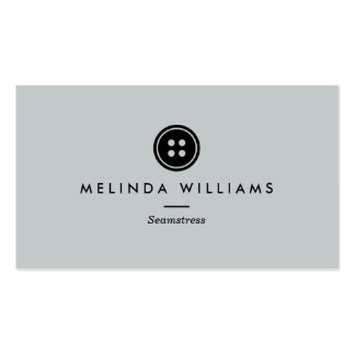 Modern Button Logo Seamstress, Sewing, Tailor II Pack Of Standard Business Cards