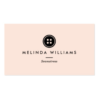 Modern Button Logo Seamstress, Sewing, Tailor III Pack Of Standard Business Cards
