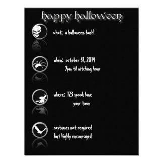 modern Button Style Halloween Invitation