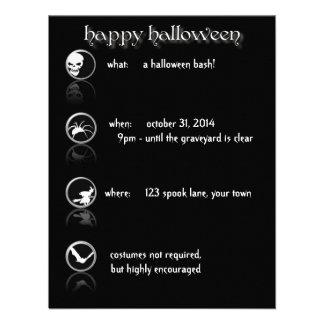 Modern Button Style Halloween Party Invitation