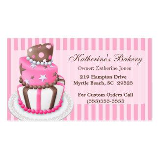 Modern Cake Bakery Business Cards