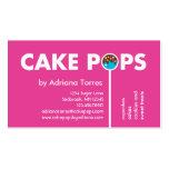 Modern Cake Pops Business Card