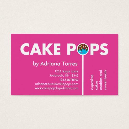 Modern Cake Pops Business Card Zazzle Com Au