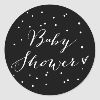 Modern Calligraphy Baby Shower Sticker