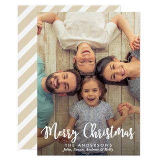 Modern Calligraphy Merry Christmas | Holiday Photo Card