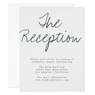 Modern Calligraphy Reception Card