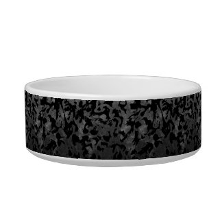 Modern Camo -Black and Dark Grey- camouflage Bowl
