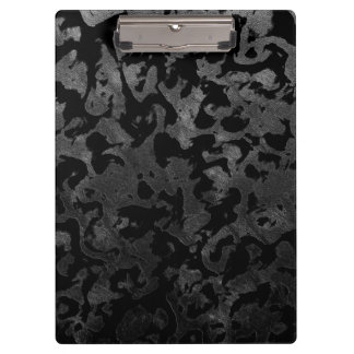 Modern Camo -Black and Dark Grey- camouflage Clipboard