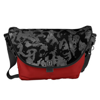 Modern Camo -Black and Dark Grey- camouflage Commuter Bags