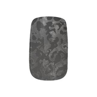 Modern Camo -Black and Dark Grey- camouflage Minx Nail Art