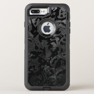 Modern Camo -Black and Dark Grey- camouflage OtterBox Defender iPhone 8 Plus/7 Plus Case
