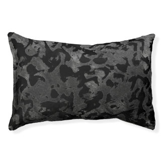 Modern Camo -Black and Dark Grey- camouflage Pet Bed