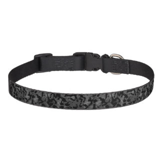 Modern Camo -Black and Dark Grey- camouflage Pet Collar
