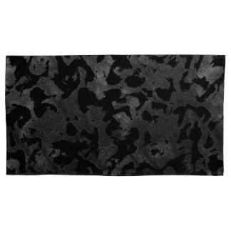 Modern Camo -Black and Dark Grey- camouflage Pillowcase