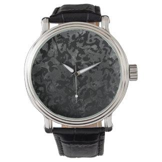 Modern Camo -Black and Dark Grey- camouflage Watch
