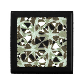 Modern Camo Print Small Square Gift Box