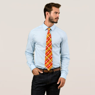 Modern Canada Leaf Colors Satin Houndstooth Tie