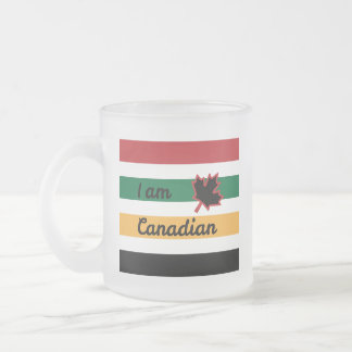 Modern Canadian Blanket (English) Frosted Mug