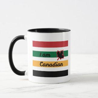 Modern Canadian Blanket (English) Ringer Mug