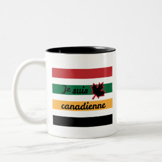 Modern Canadian Blanket (French Fem.) Two-Tone Mug