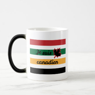 Modern Canadian Blanket (French) Morphing Mug