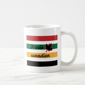 Modern Canadian Blanket (French) White Mug