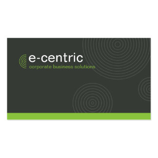 MODERN CARD trendy dynamic centric gray lime green Pack Of Standard Business Cards