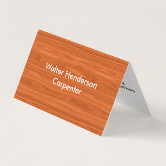Modern Carpenter Contractor Business Card