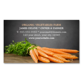 Modern Carrots/ Organic Farm Magnetic Business Cards