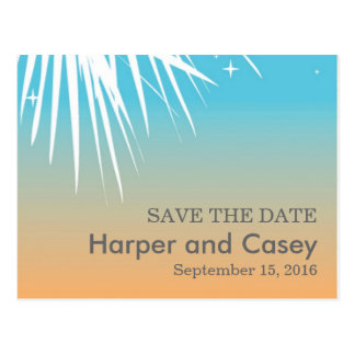Modern Celebration Save the Date Postcard