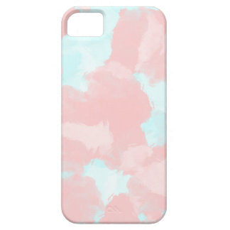 Modern cerulean and pink brush tones case for the iPhone 5