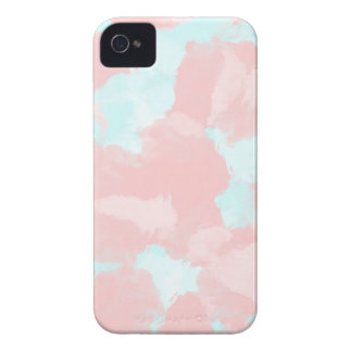 Modern cerulean and pink brush tones iPhone 4 Case-Mate cases