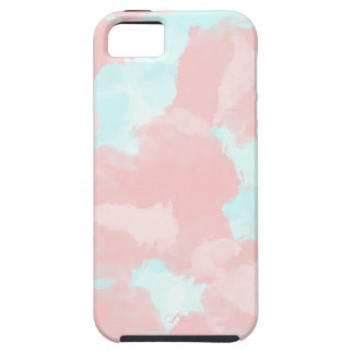 Modern cerulean and pink brush tones iPhone 5 case