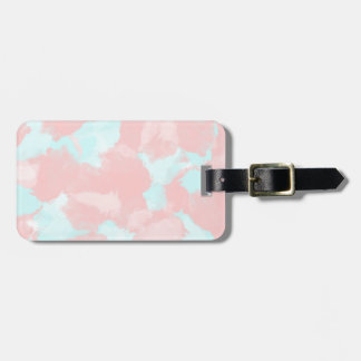 Modern cerulean and pink brush tones luggage tag