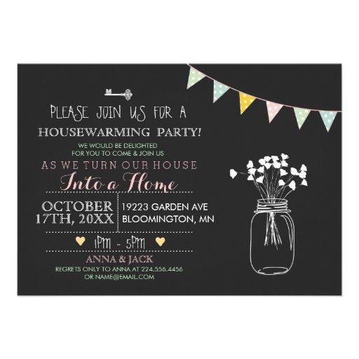 Modern Chalkboard Housewarming Invitation