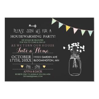 "Modern Chalkboard Housewarming Invitation 5"" X 7"" Invitation Card"