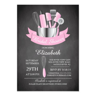 Modern Chalkboard Stock The Kitchen Bridal Shower 13 Cm X 18 Cm Invitation Card