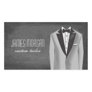 Modern Chalkboard Tuxedo Tailor Pack Of Standard Business Cards