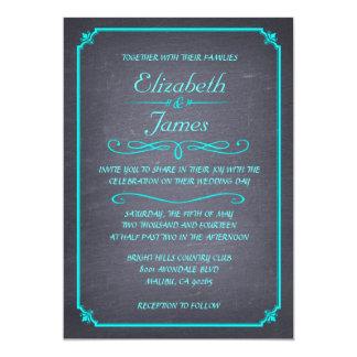 Modern Chalkboard Wedding Invitations