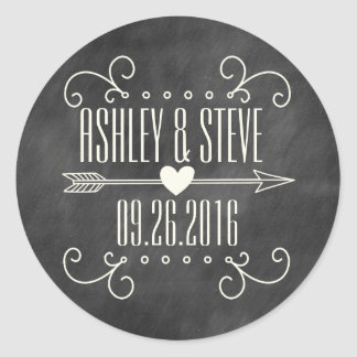 MODERN CHALKBOARD WEDDING STICKERS